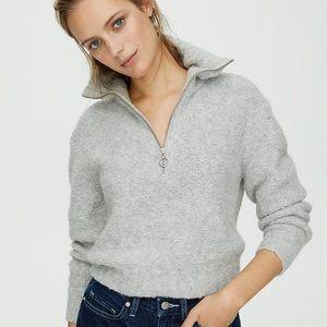 Aritzia Wilfred Free Gwyneth Grey Sweater Size XXS